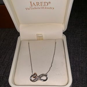 Jewelry - Jared Infinity necklace-white/rose gold & diamonds